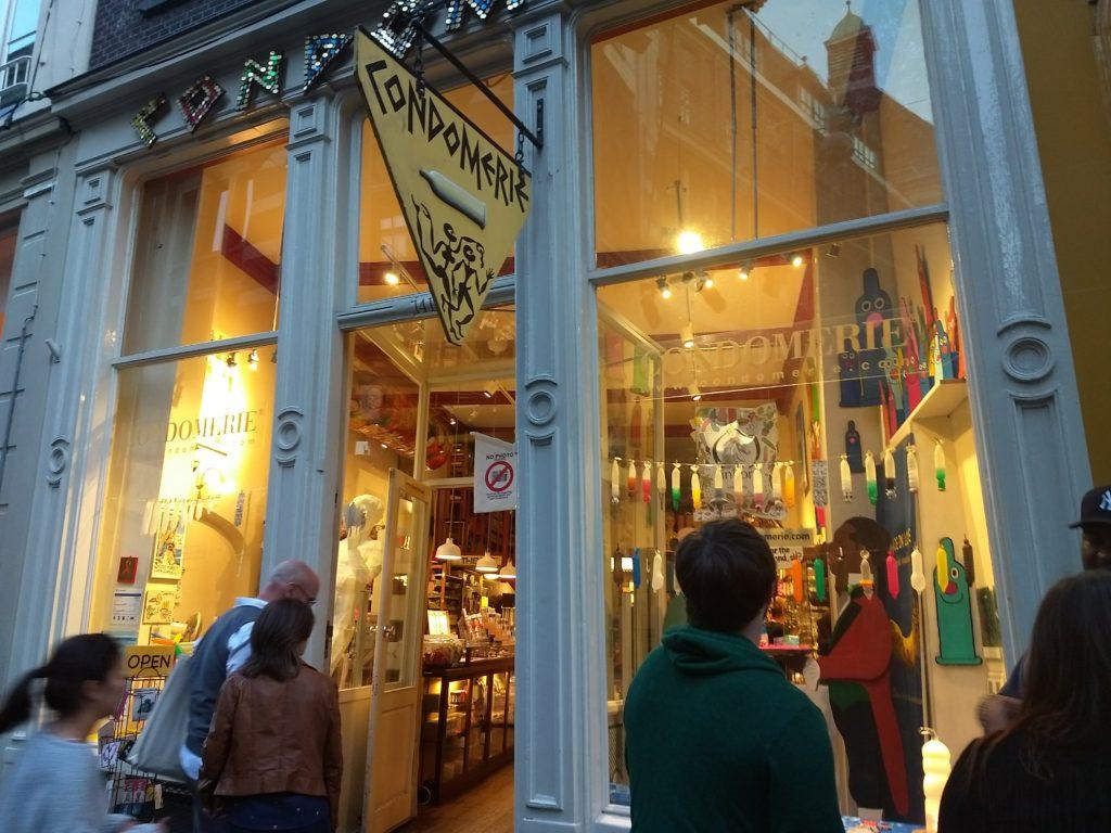 Loja de camisinhas Condomerie em Amsterdam