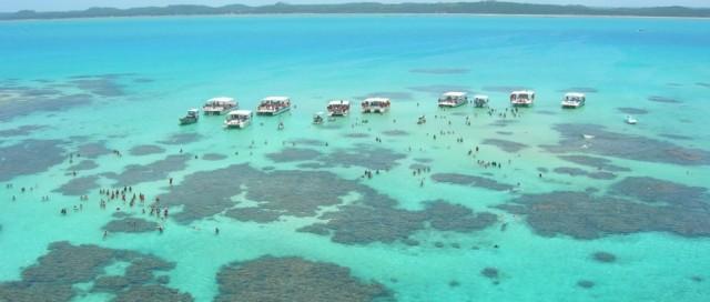 Piscinas naturais de Maragogi em maré baixa