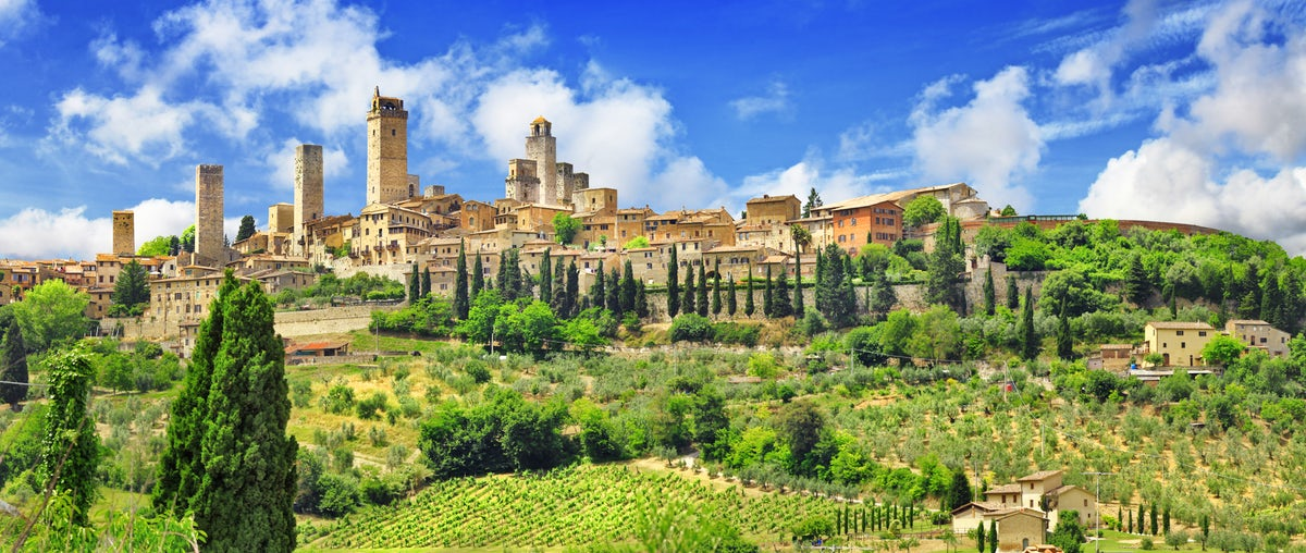San Gimignano, província de Siena, na Toscana