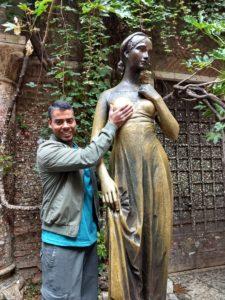 Estátua de bronze de Julieta - Casa di Giulietta